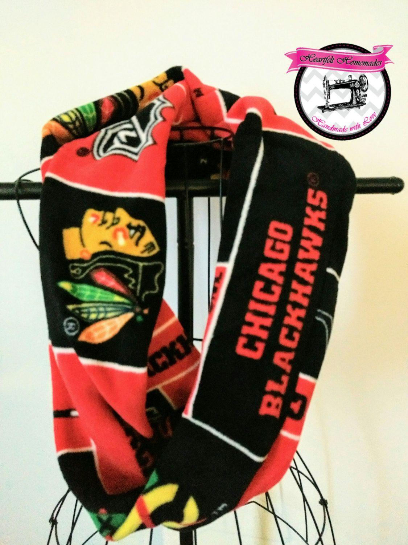 Chicago blackhawks fleece infinity scarf stylish women