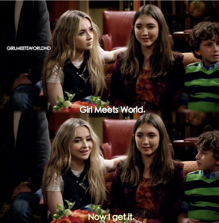 "#GirlMeetsWorld ""Girl Meets Goodbye"" (Riley and Maya realizing the meaning of the show just like Cory did on Boy Meets World)"