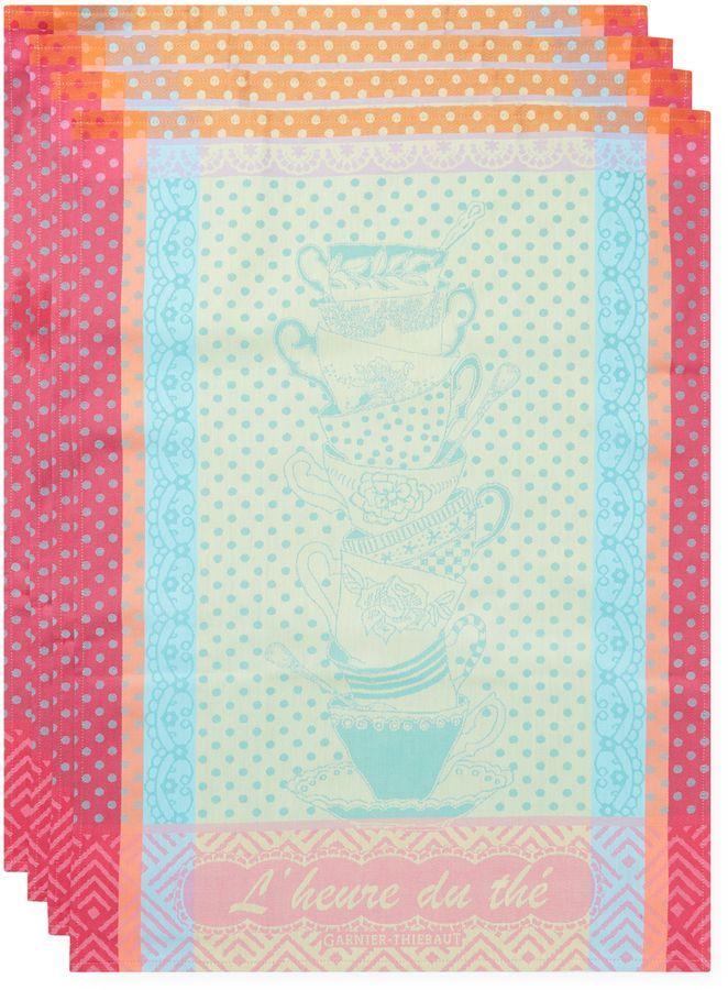 Garnier Thiebaut Garnier-Thiebaut L'Heure Du The Cotton Kitchen Towels (Set of 4)