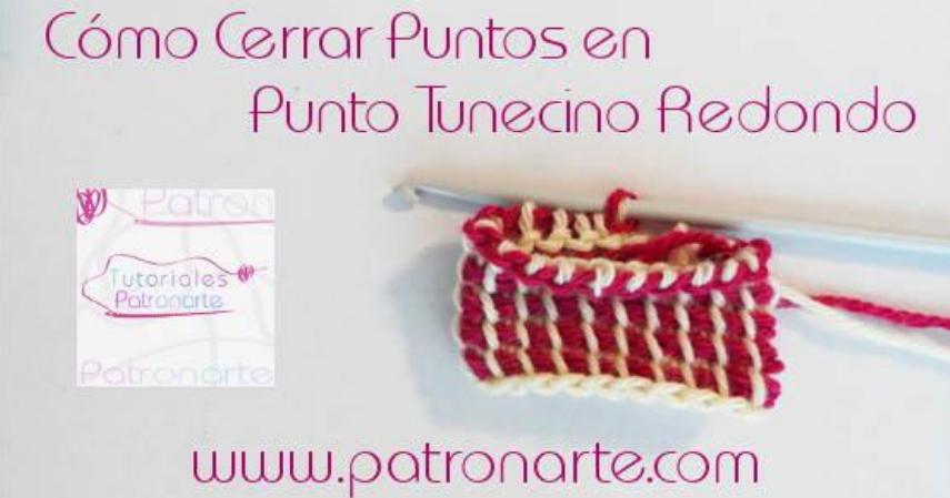 Cómo cerrar trabajos de crochet tunecino en redondo | Manualidades ...