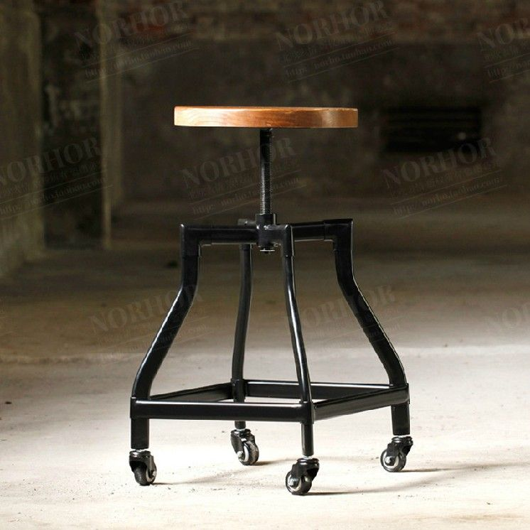 Online Shop American Country Antique Wood Bar Chair Office Chair Computer  Chair Retro Do The Old Wrought Iron Bar Stools Specials