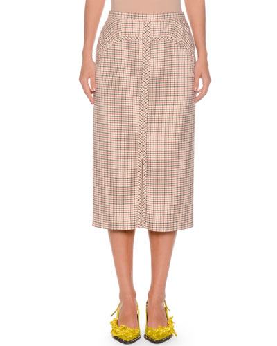 8b4a649e27 No.21 No. 21 A-Line Long Checkered Skirt | Products | Checkered ...
