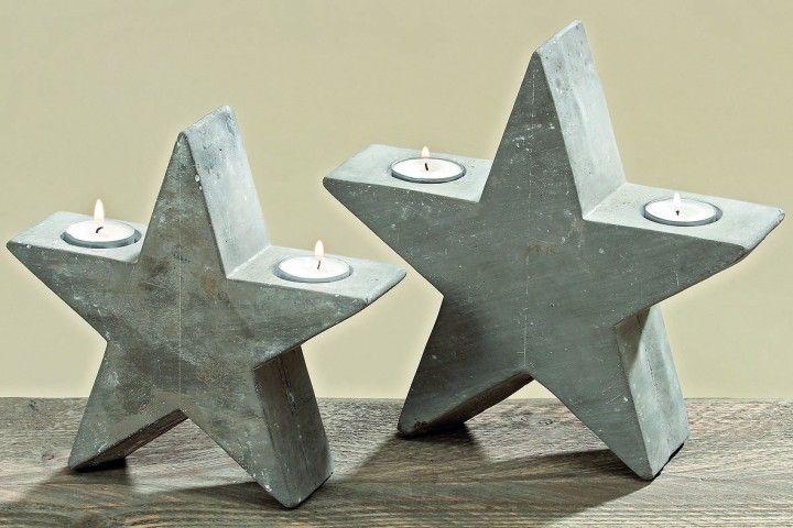 Stern aus Beton mit Teelichthaltern | Zement | Pinterest | Sterne ...