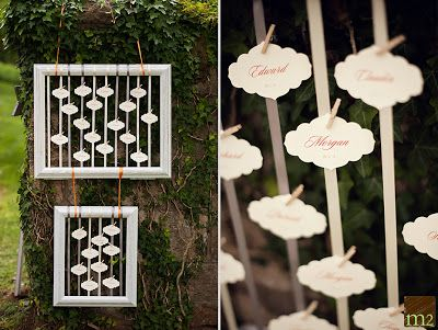 mini clothes pin picture frame wedding   Wedding Clothespins By Design