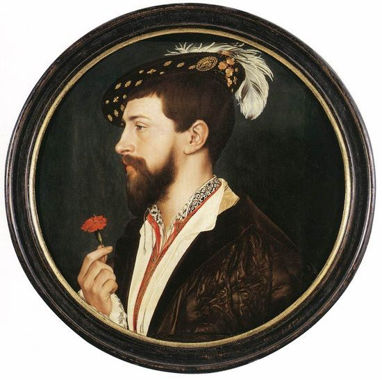 Hans Holbein, Portrait of Simon George, 1536.