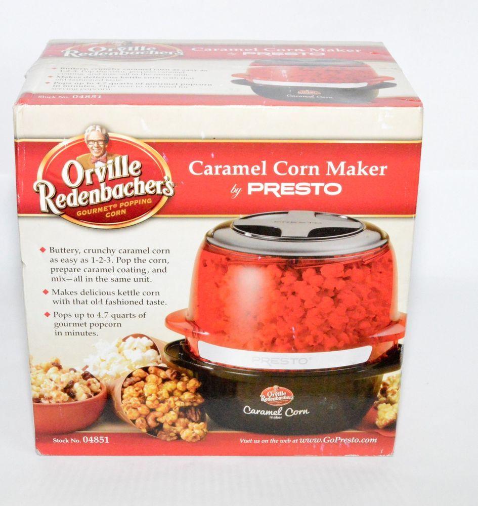 Orville Redenbacher S Gourmet Caramel Corn Maker Popcorn Popper By Presto Caramel Corn Gourmet Caramel