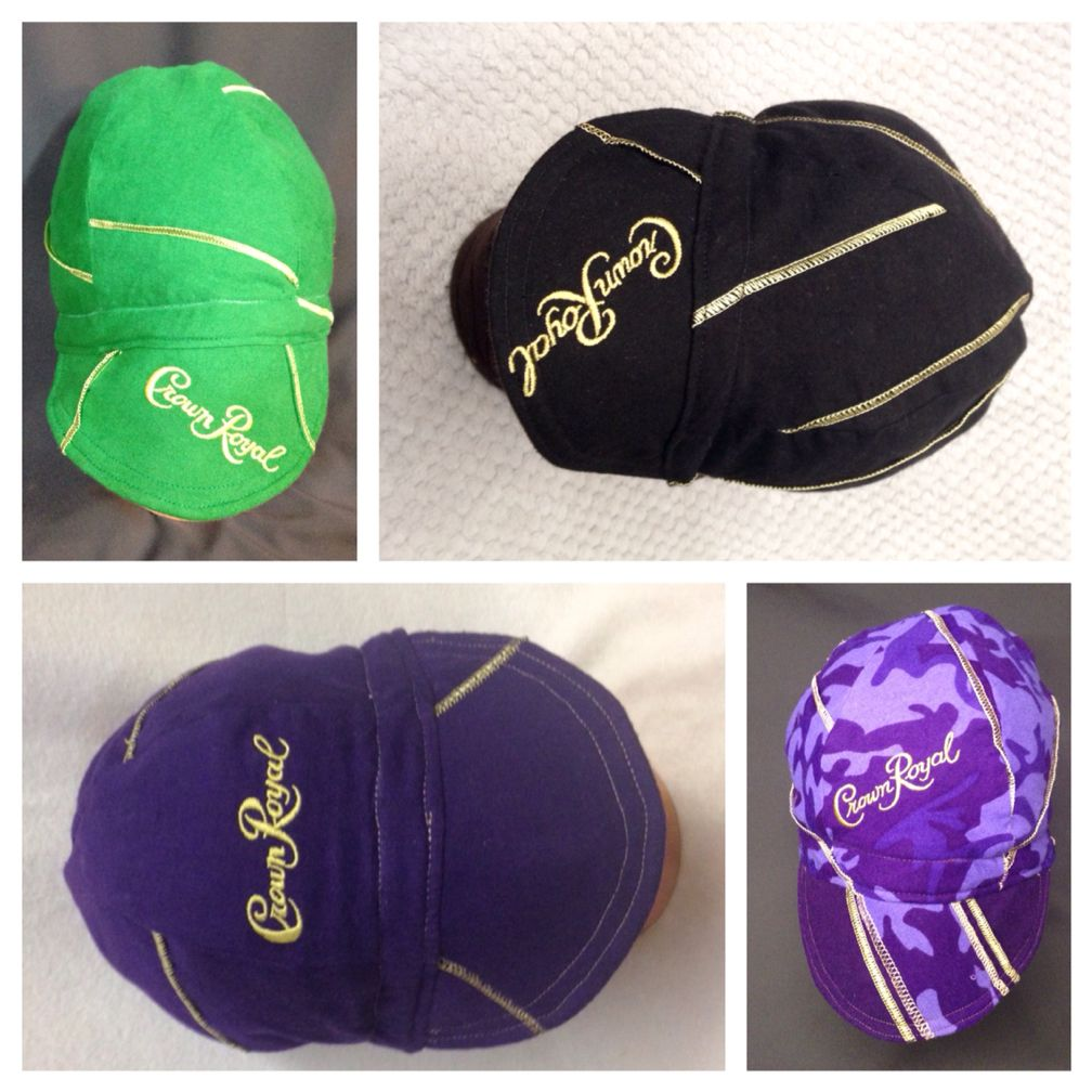 Any Size IBEW Tan and Purple Crown Royal Welding Caps Made in U.S.A