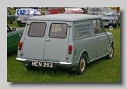 Morris Mini Van 1960. Mini Vans (and the Pickup) had 4 inch longer wheelbase and were nearly ten inches longer overall