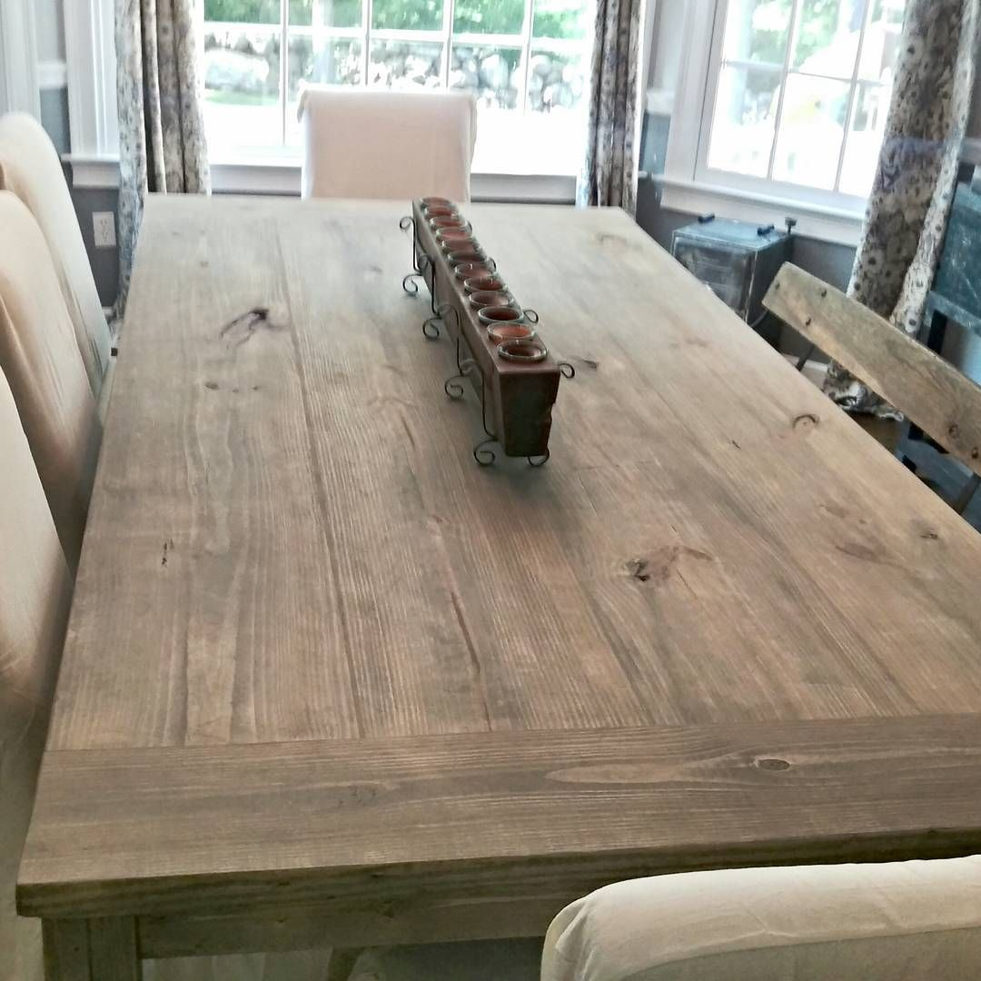 Ft Farmhouse Table Stain Weathered Grey Seal Matte I Love The Way This Table