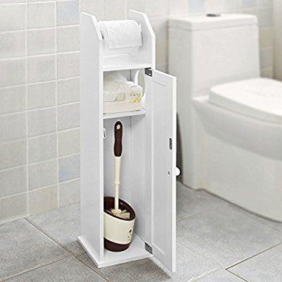 Sobuy Freistehend Weiss Toilettenrollenhalter Badregal Standschrank Seitenschrank Frg135 W In 2020 Toilettenrollenhalter Badezimmer Aufbewahrung Toiletten