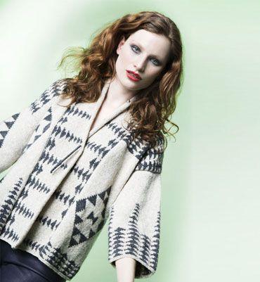 Modèle veste jacquard femme