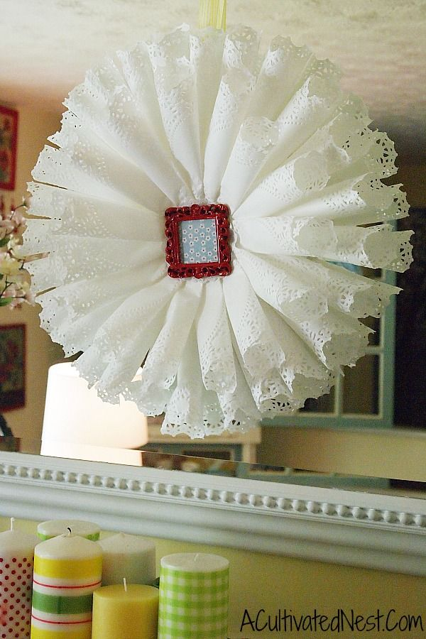diy paper doily wreath from A Cultivated Nest