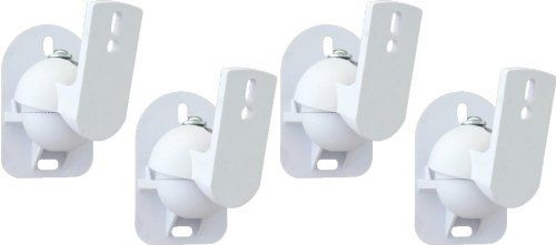 Techsol Essential Tss1 W 4 Pack Of White Universal Speaker Wall Mount Brackets By Techsol 17 99 The Speaker Wall Mounts Wall Mount Bracket White Speakers