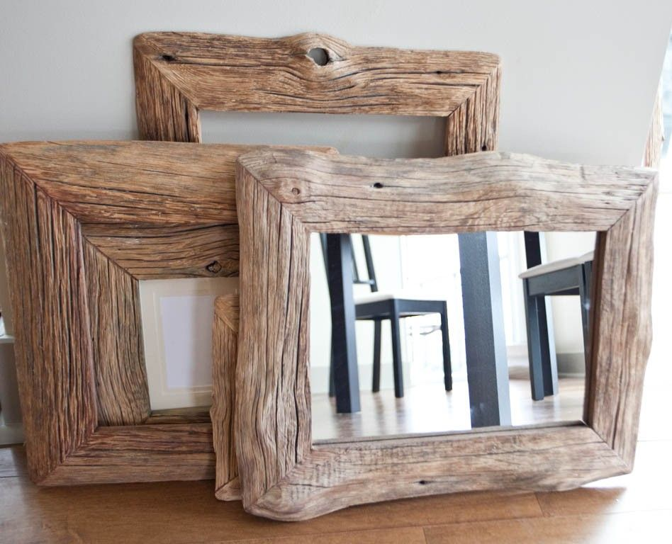 Mirror In Reclaimed Farm Wood Frame 10x14 | Farming, Woods and Driftwood