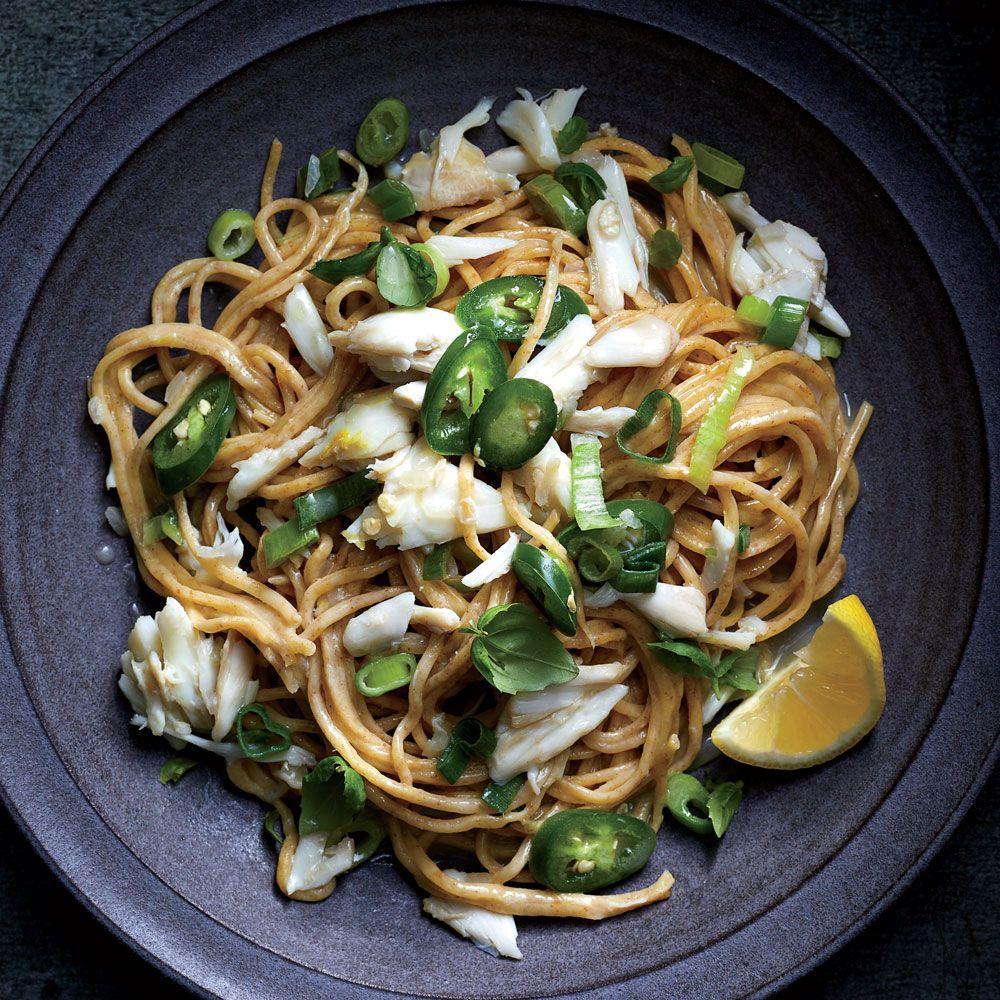 Spicy Crab Spaghetti Recipe Recipe Crab Spaghetti Spicy Crab Spicy Pasta Recipes
