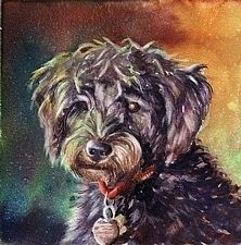 Missed friend by gabriele baber Watercolor ~ 6 x 6