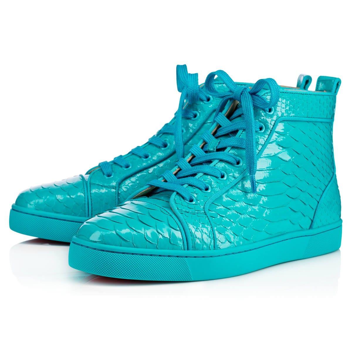b3884ccc4b17 CHRISTIAN LOUBOUTIN Louis Men S Flat Pacific Python Crystal.   christianlouboutin  shoes