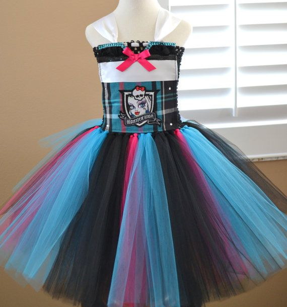 Frankie Stein Monster High Tutu Dress 2 Different By 1583designs Monster High Tutu Monster High Birthday Party Monster High Party