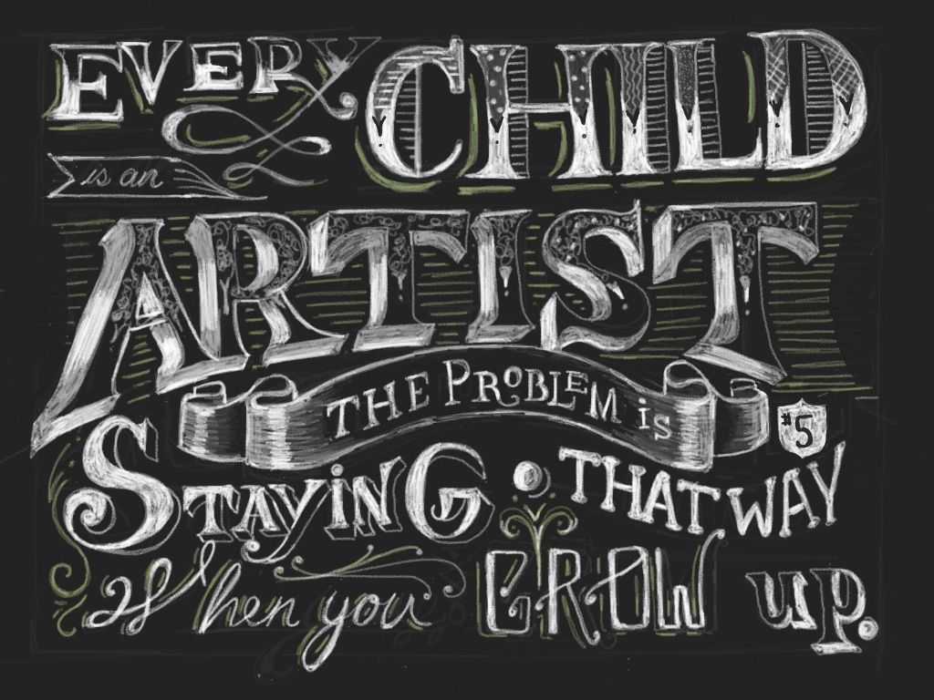 """""""Every child is an artist..."""" (con imágenes)"""