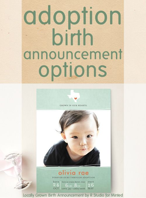 adoption birth announcement options from Minted ·adoption