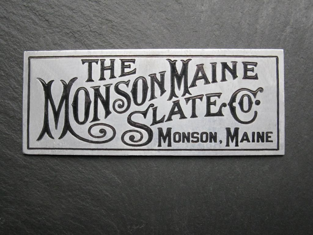 By Monson Maine Slate Company Monson Maine Monson Maine