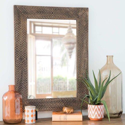 Miroir effet sculpté 58x78cm WOGBA Ma chambre cosy parfaite