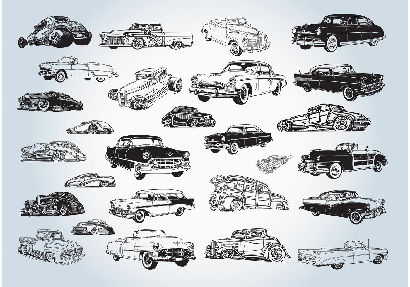 Vintage Cars Vectors Car Vector Vintage Cars Retro Cars