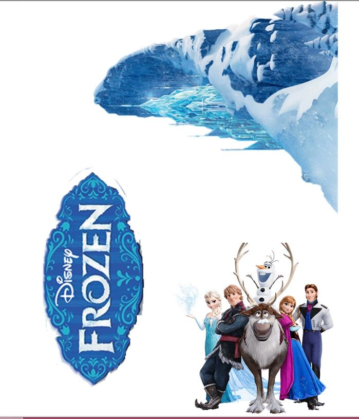 Stand Up Frozen Cake Topper Set Edible 3 Piece With Frozen Castle Hiasan Kue Hiasan Kue