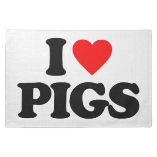 I Love Pigs | Pig Kitchen Towels, Pig Hand Towels