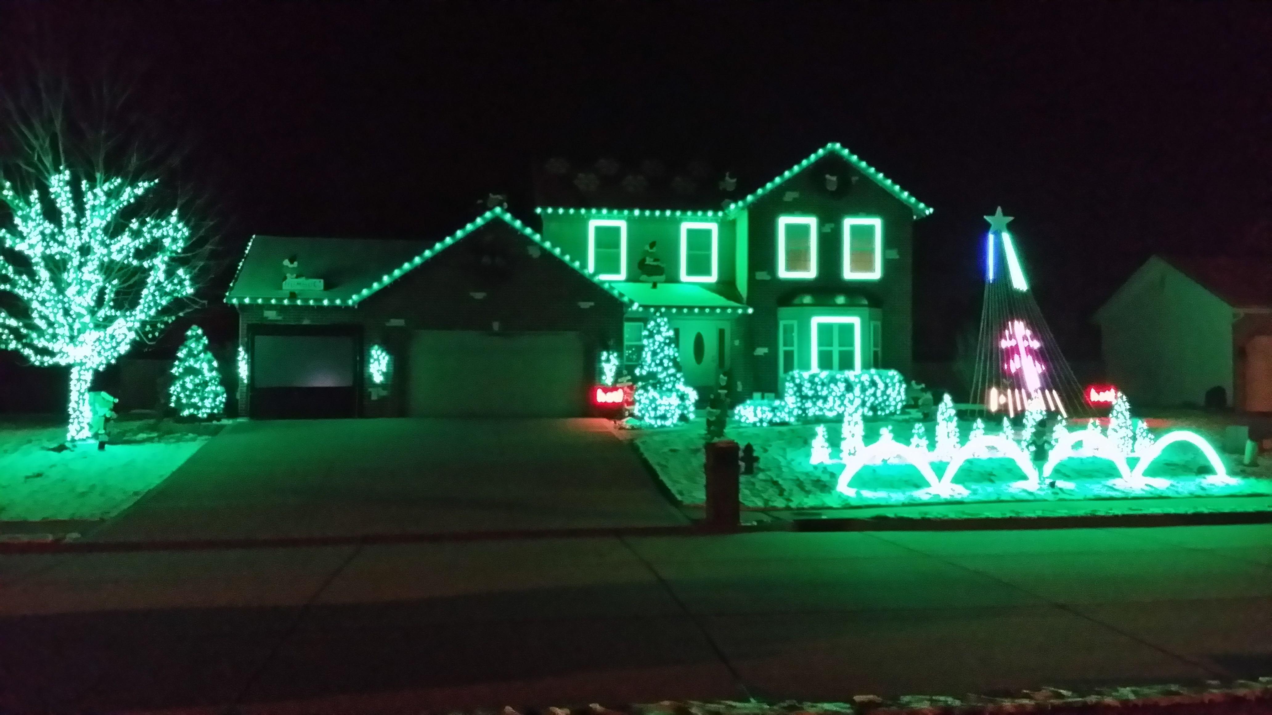 Green Christmas Lights Galore This Christmas Lights House