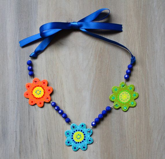 Colorful Girls Necklaces by lucyjory on Etsy