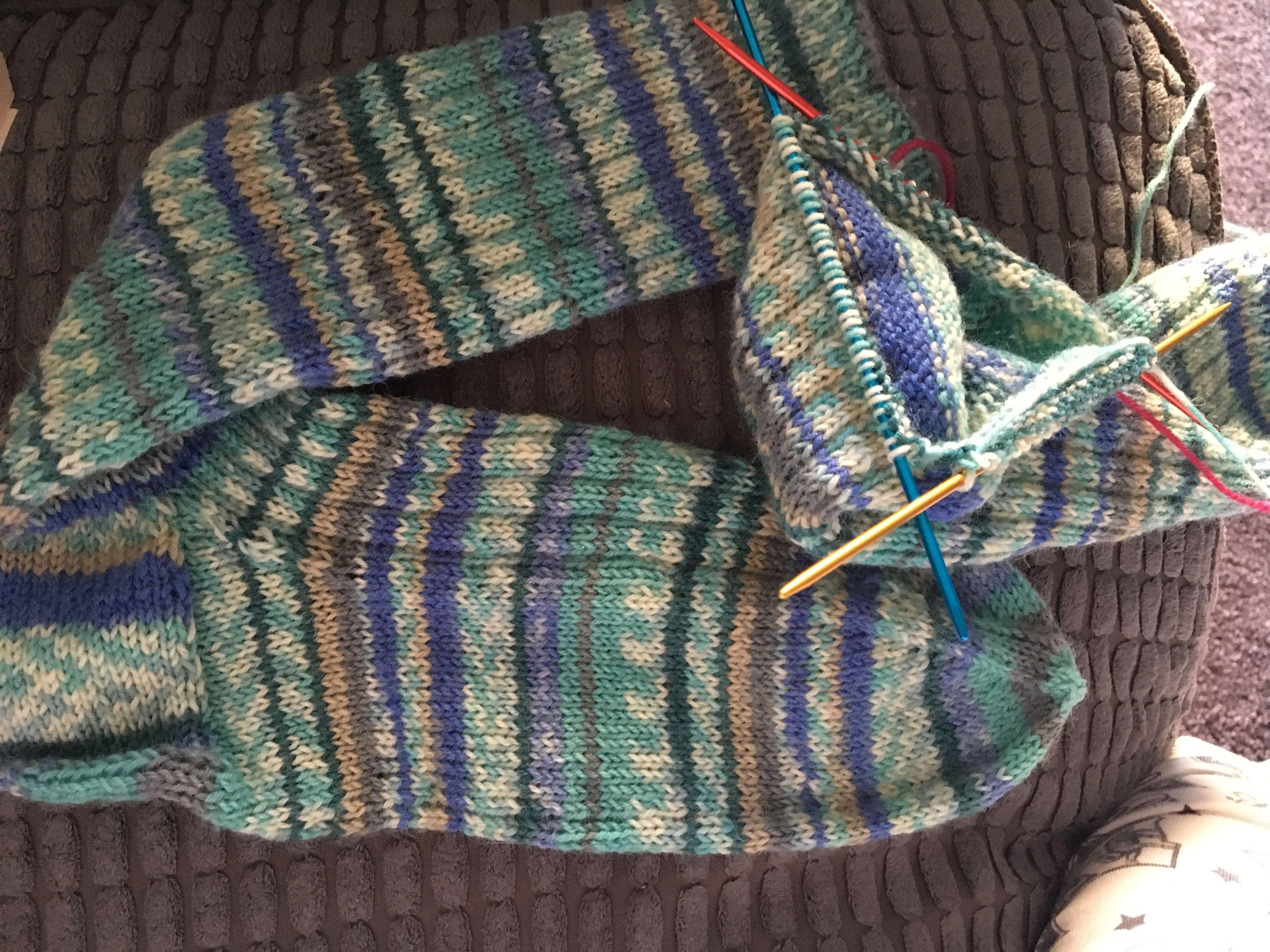 Men\'s socks #easypattern | Knitting | Pinterest | Socks, Knitting ...