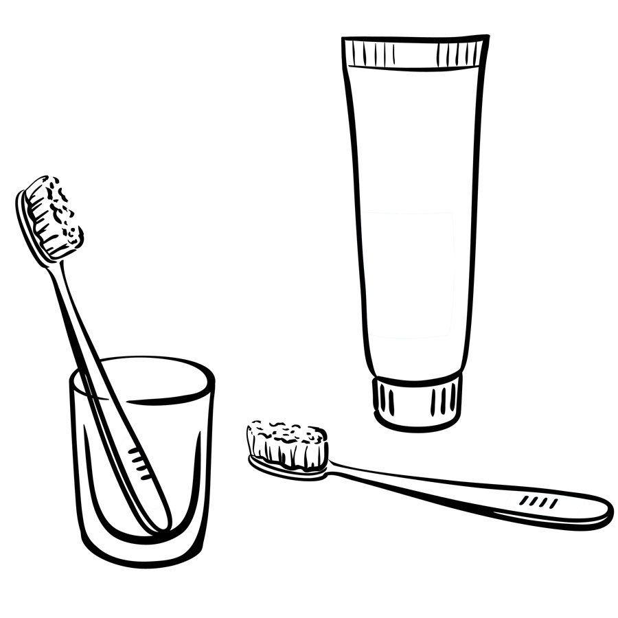 Картинка раскраска зубной пасты