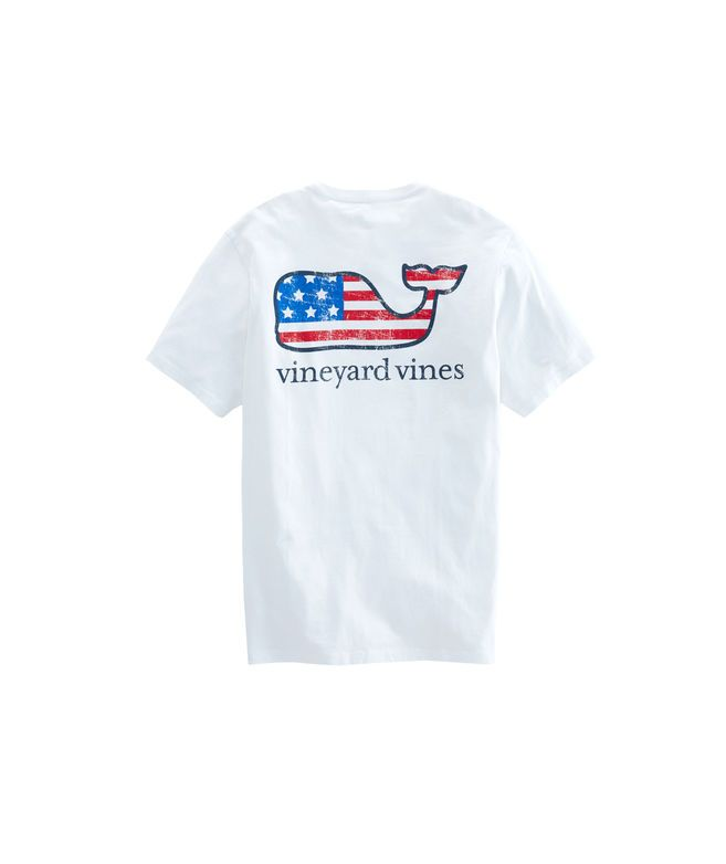 Vineyard Vines Christmas Shirt 2019.Flag Whale Graphic T Shirt Christmas List In 2019 Shirts