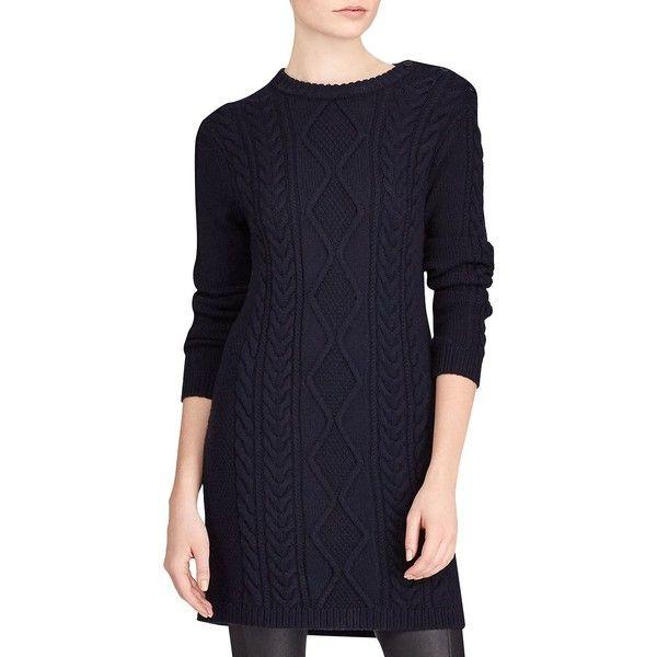 Womens Aran Long Sleeve-Casual Dress Ralph Lauren VxQ8b9