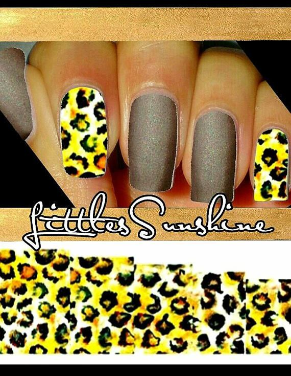 Wild ANIMAL Print Waterslides Nails Decals Water Transfer Nail ...