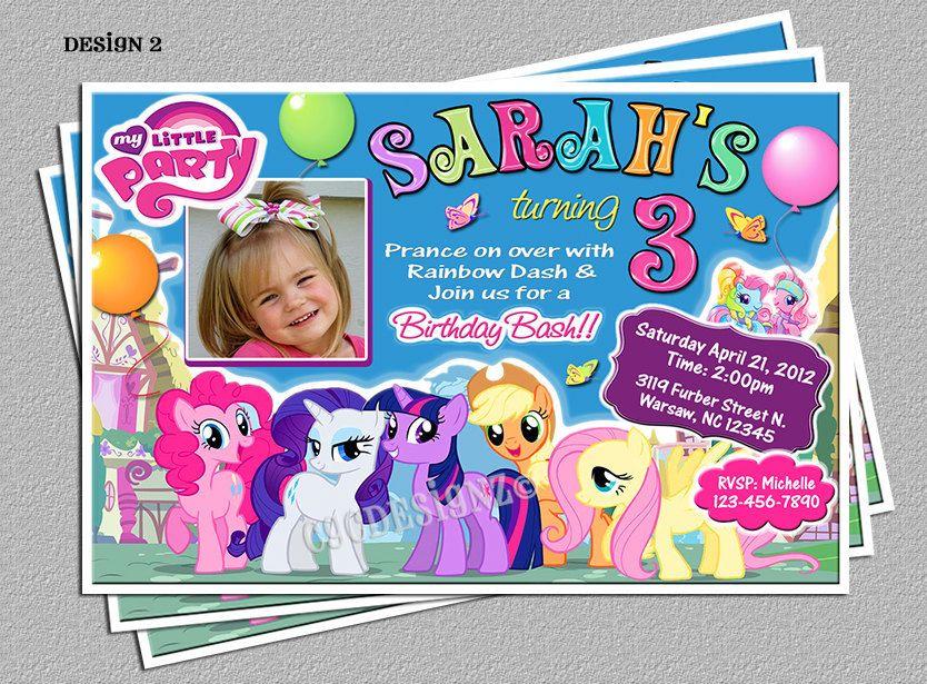 My Little Pony Birthday Party Invitations Diy Digital