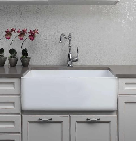 Rome Ceramic Butler Sink Range Single Flat Aurora Love