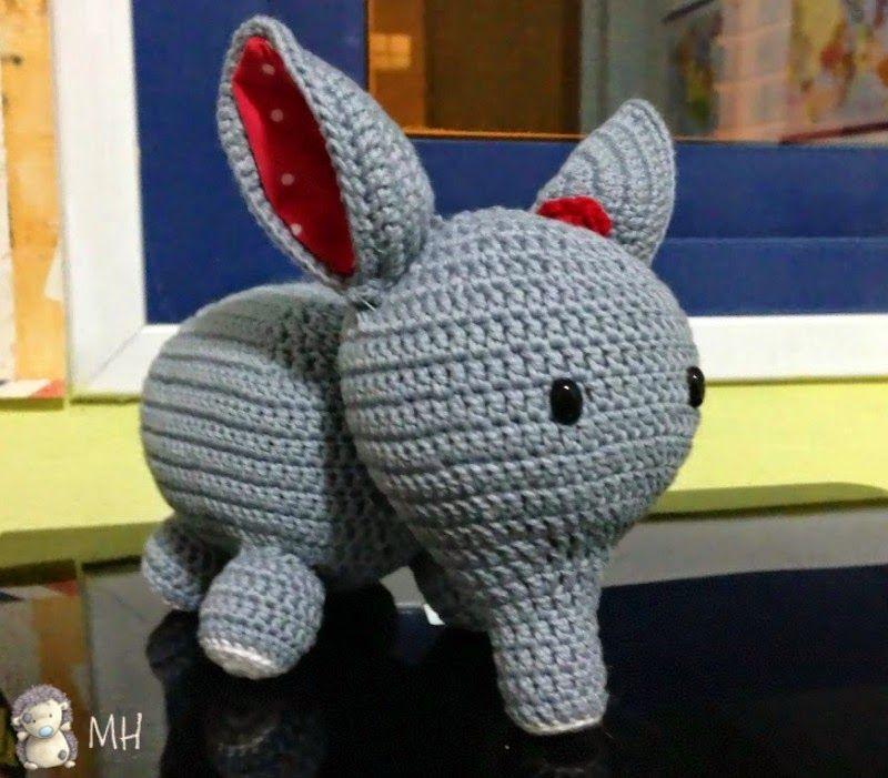 Elefante amigurumi | Ganchillo | Pinterest | Elefantes, Patrón ...