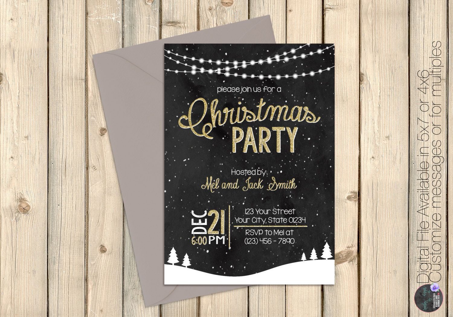 Christmas Party Invitation Holiday Party Invitation Etsy Holiday Party Invitations Christmas Party Invitations Printed Invitations