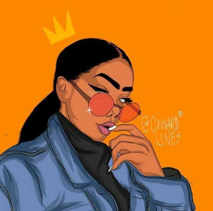 Black Woman Art | Black girl art, Black girl cartoon, Female art