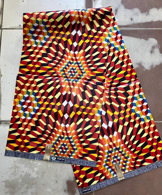 African PolyCotton Print Ankara Fabric Wax Latest Pattern Quality 1 Or 6 Yards