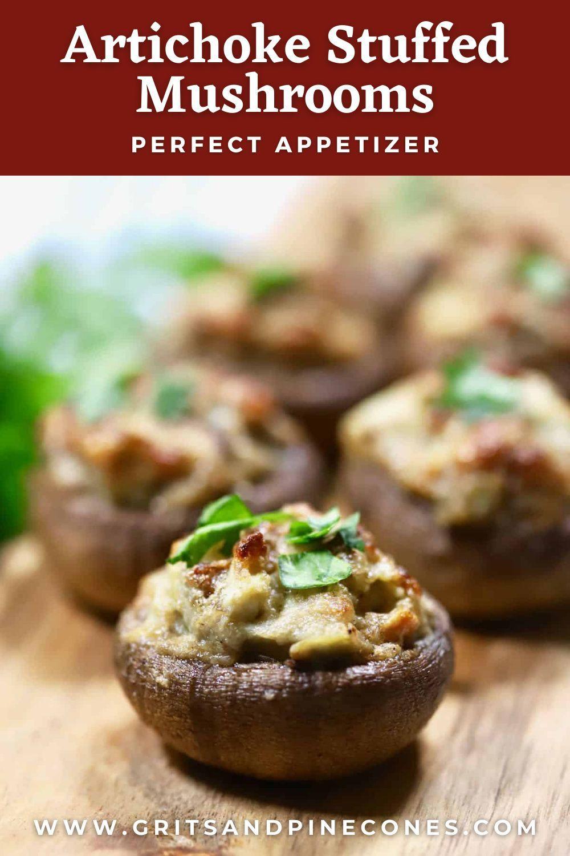 Classic Stuffed Mushrooms With Artichokes Gritsandpinecones Com Recipe In 2021 Recipes Mushroom Appetizer Recipes Christmas Food Desserts Artichoke parmesan stuffed mushrooms