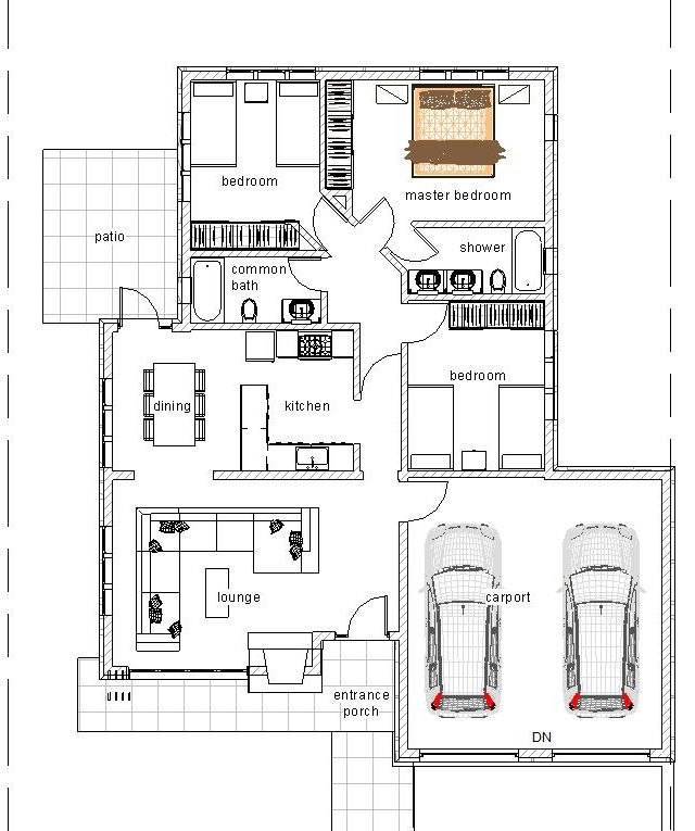 Elegant 3 Bedroom Bungalow Bungalow House Plans House Design Photos Kitchen Design Plans
