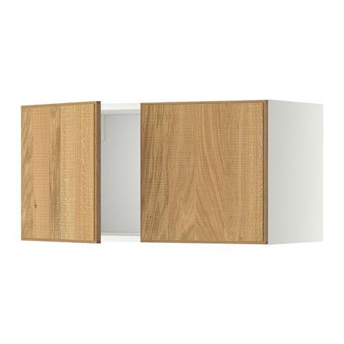 METOD Wandschrank mit 2 Türen, weiß, Veddinge weiß Diner ideas