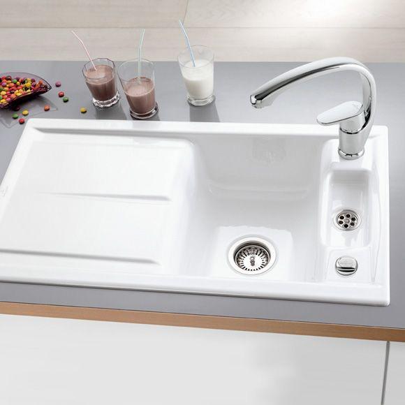 Villeroy \ Boch Laola 50 Die Keramikspüle für den aufliegenden - villeroy und boch küchenarmaturen