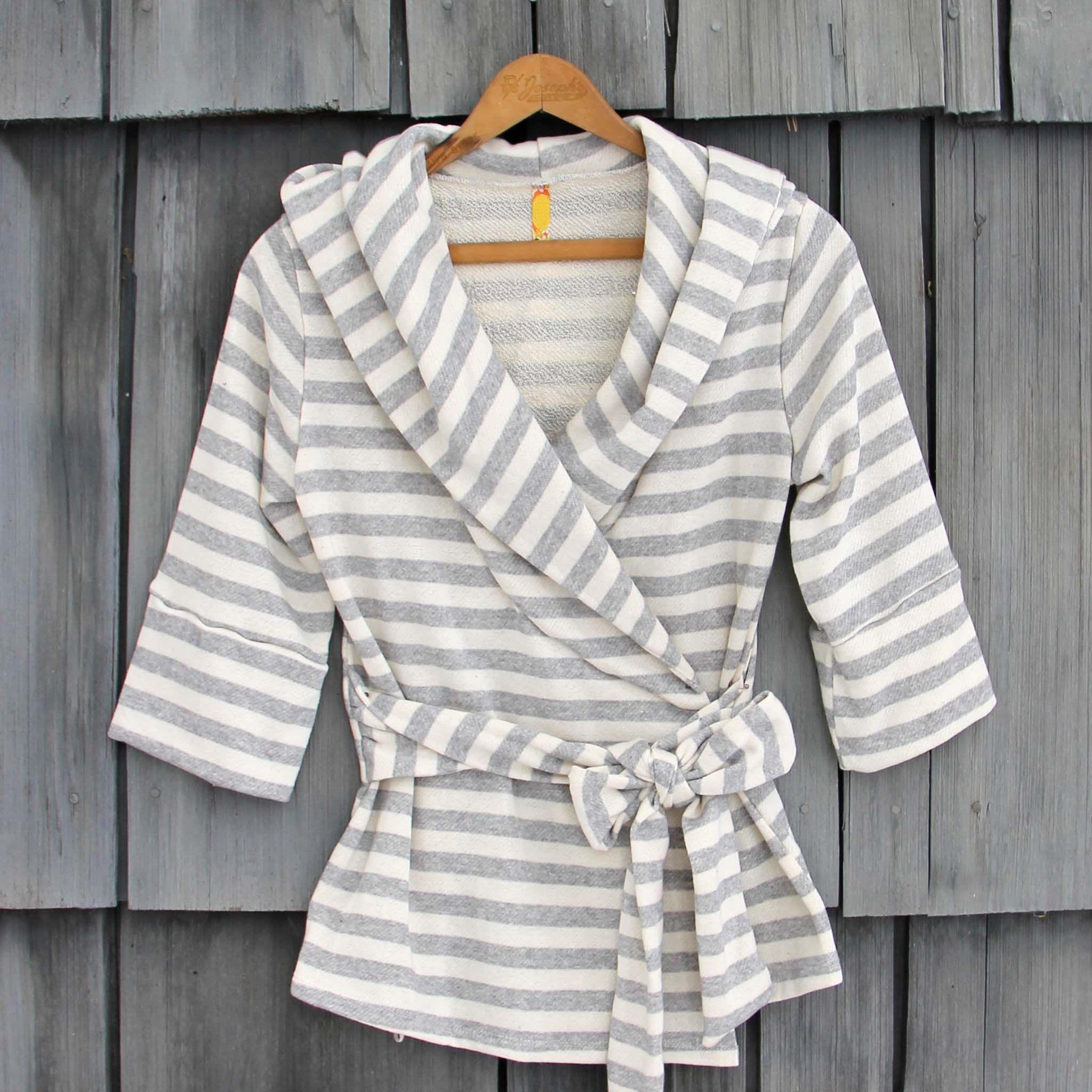 Wayfarer Stripe Hoodie in Gray