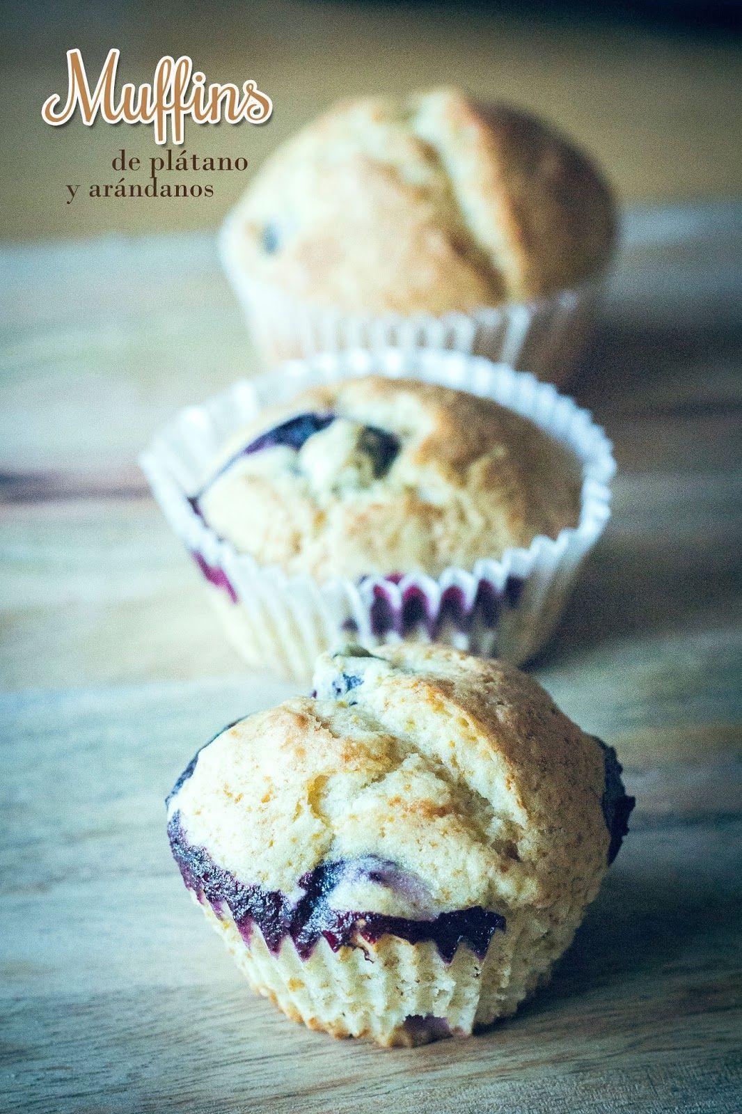 Cocina para novatos en tiempos de crisis muffins de platano con arandanos mar a gordon - Cocina para novatos ...