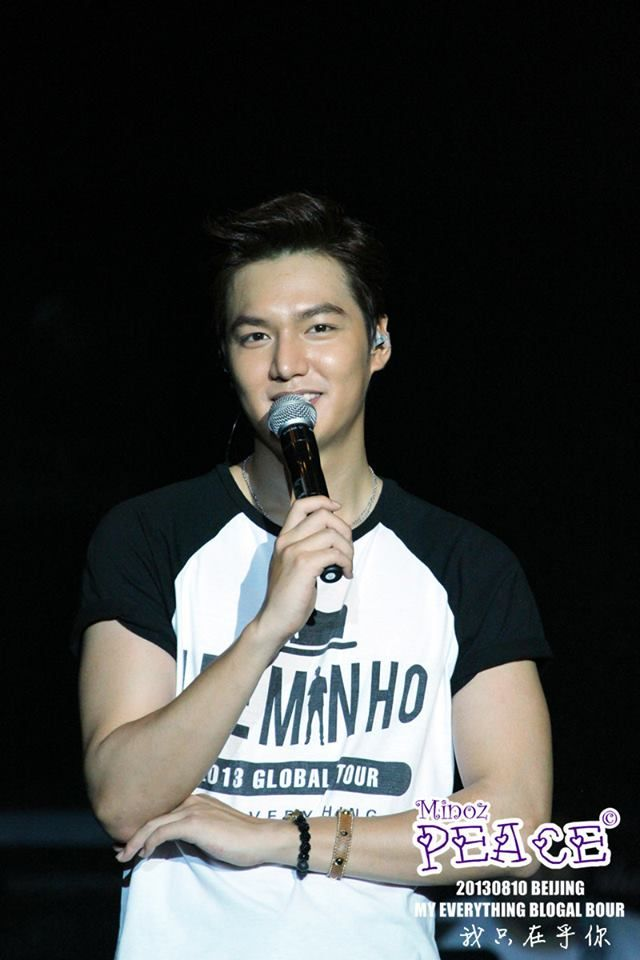 Lee Min Ho's concert in Beijing - My Everything Global Tour [August 10, 2013]   ::)