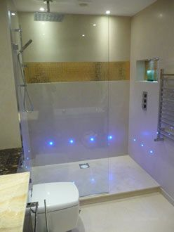 Use Led Lighting To Highlight The Wet Shower Area